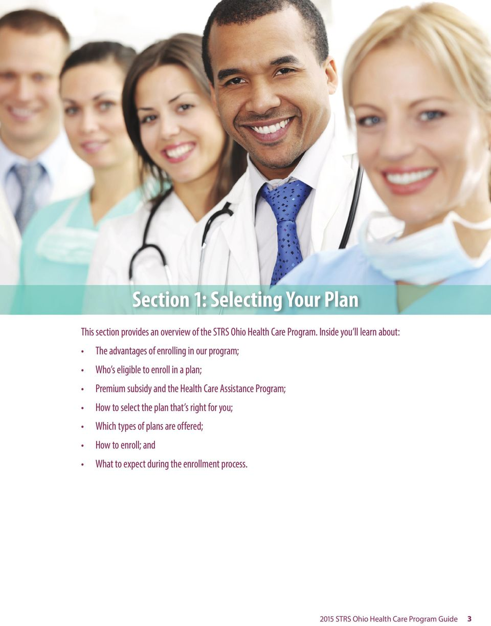 Premium subsidy and the Health Care Assistance Program; How to select the plan that s right for you; Which types
