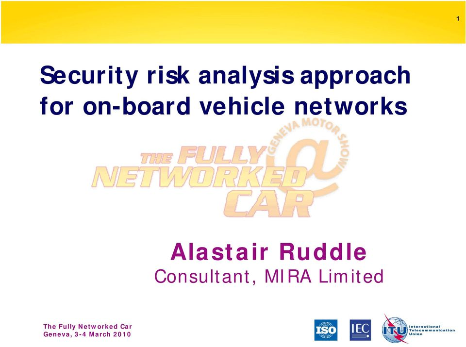 vehicle networks Alastair