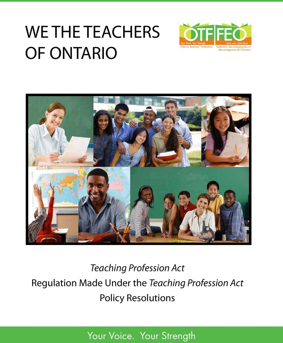 the Teaching Profession Act Policy