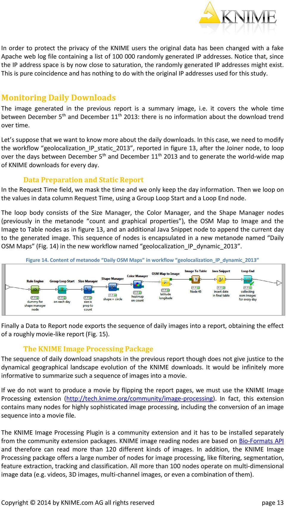 This is pure coincidence and has nothing to do with the original IP addresses used for this study. Monitoring Daily Downloads The image generated in the previous report is a summary image, i.e. it covers the whole time between December 5 th and December 11 th 2013: there is no information about the download trend over time.
