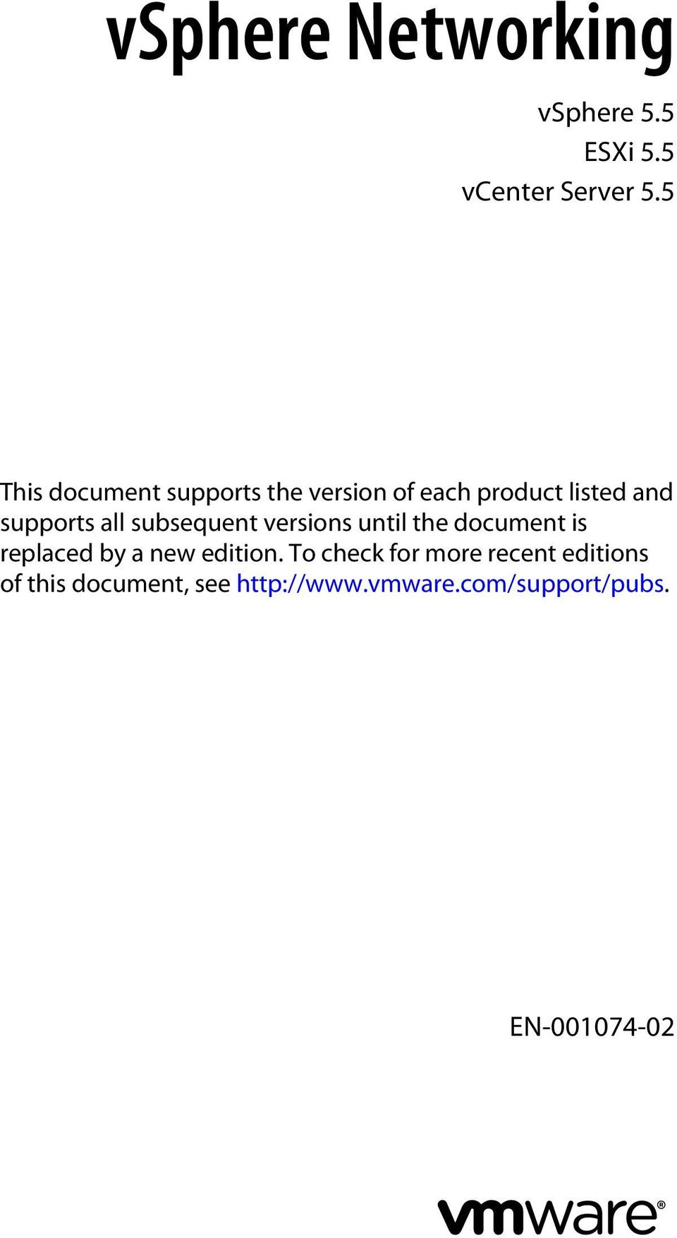supports all subsequent versions until the document is replaced by a