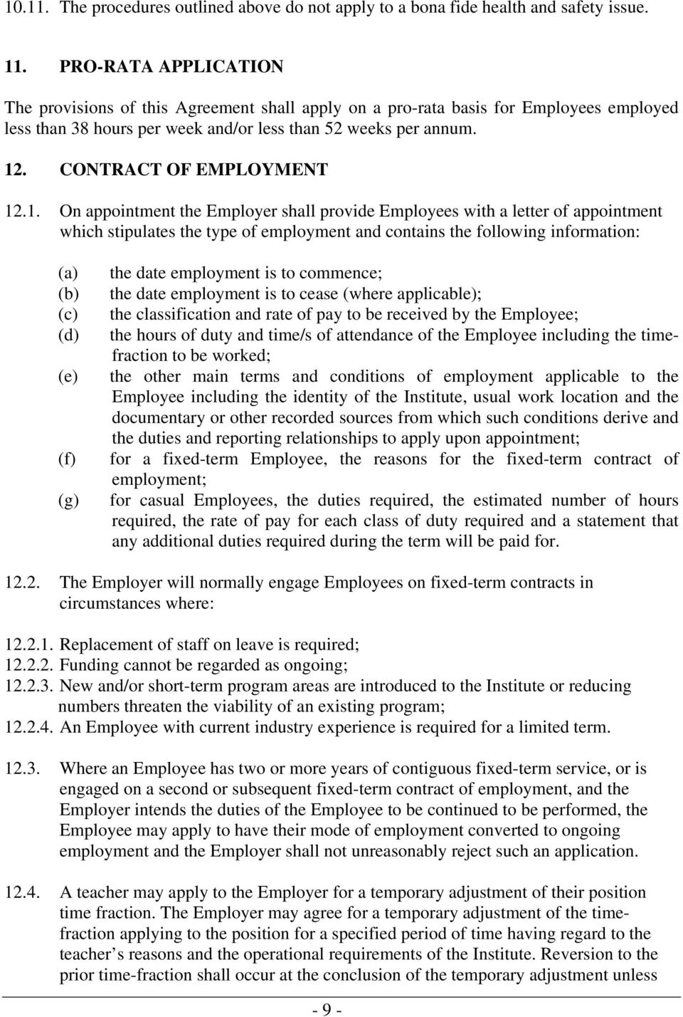 CONTRACT OF EMPLOYMENT 12