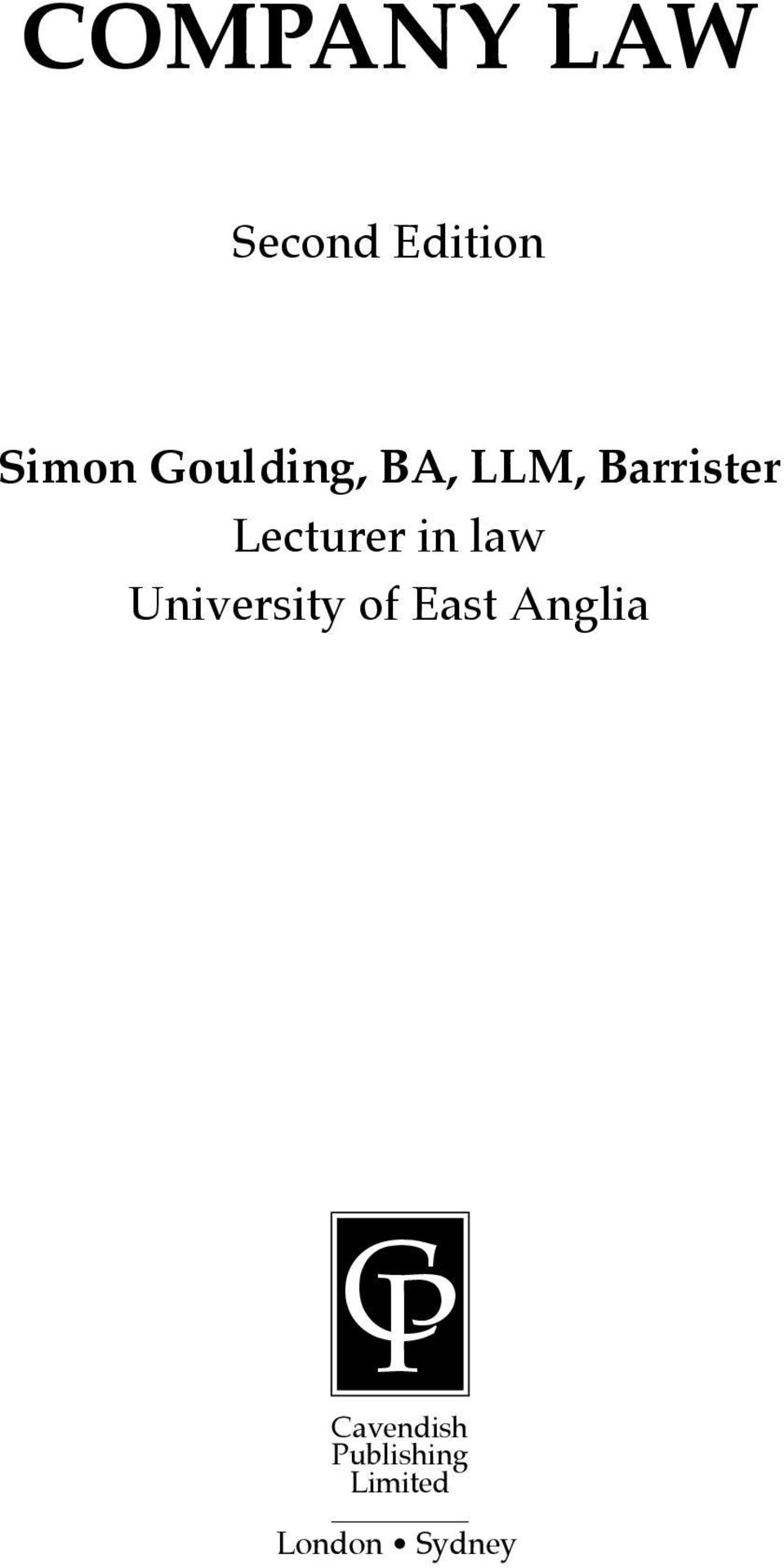in law University of East Anglia CP