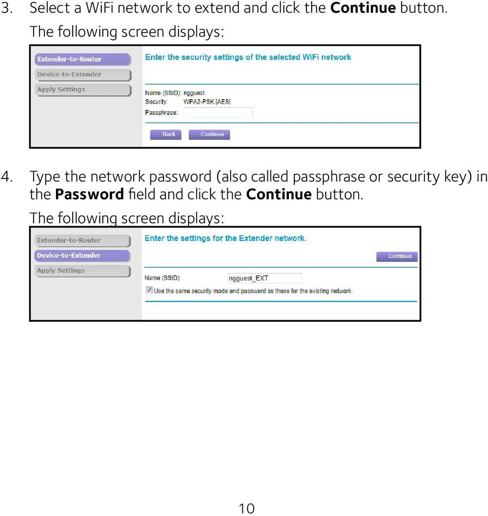 Type the network password (also called passphrase or security