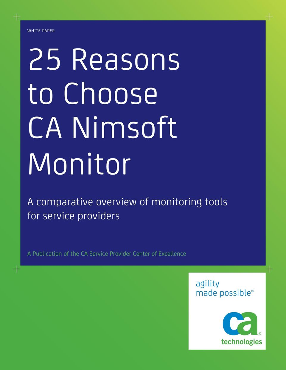 tools for service providers A Publication of the