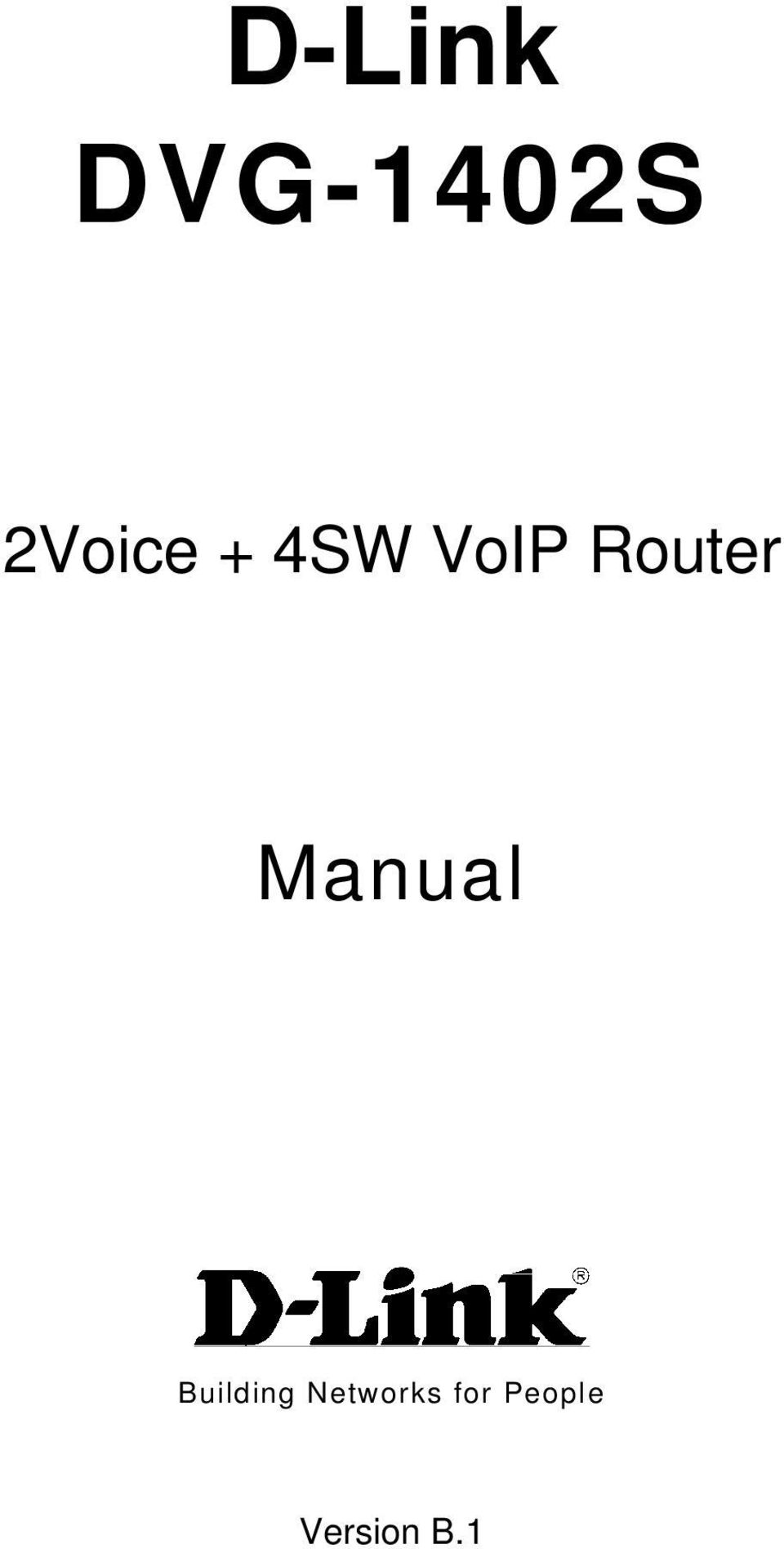Router Manual Building