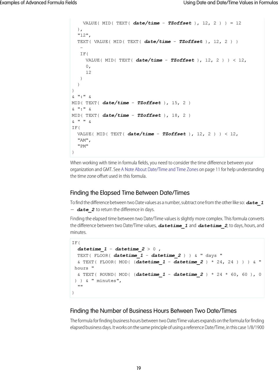 EXAMPLES OF ADVANCED FORMULA FIELDS - PDF