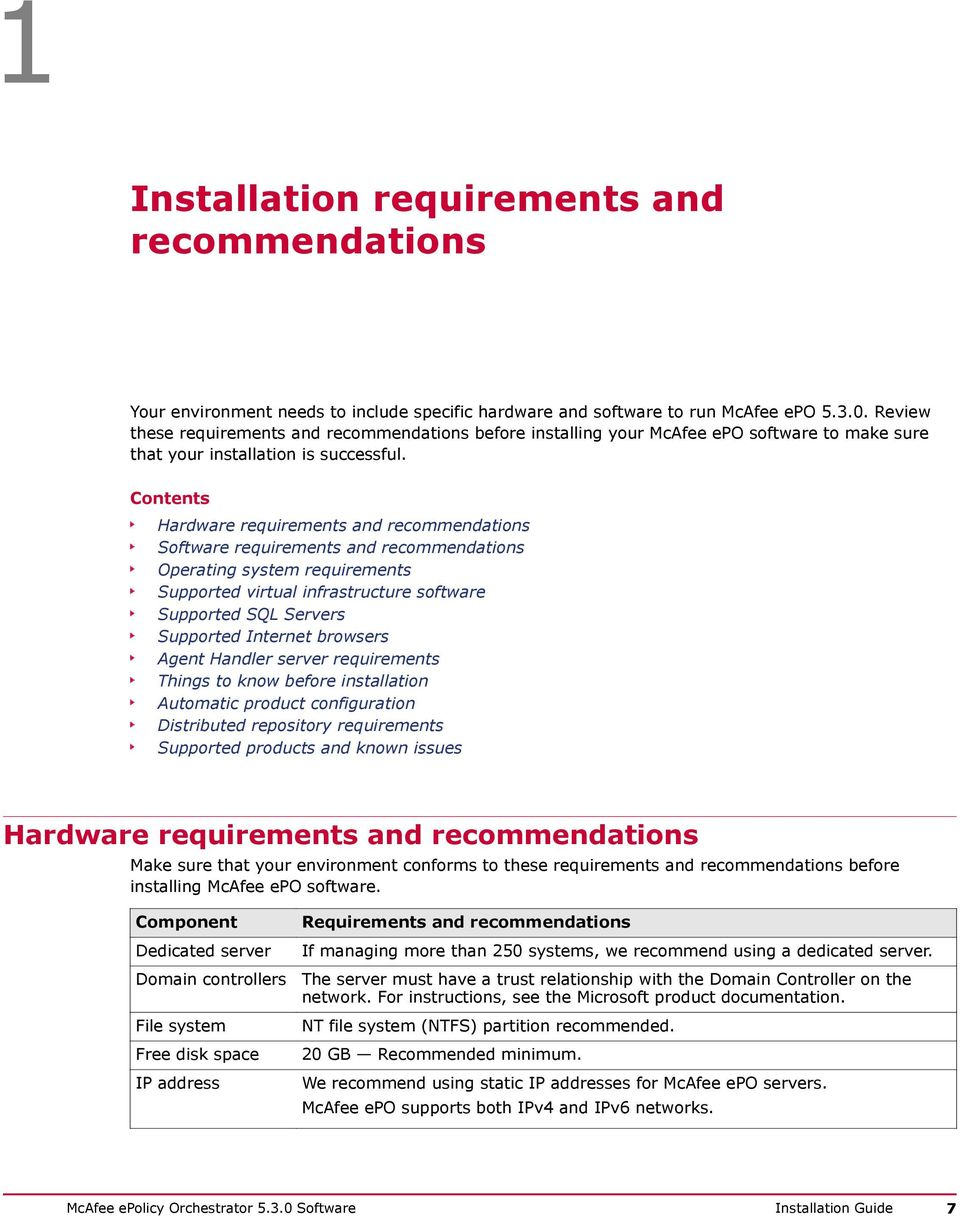 hardware and software installation guide