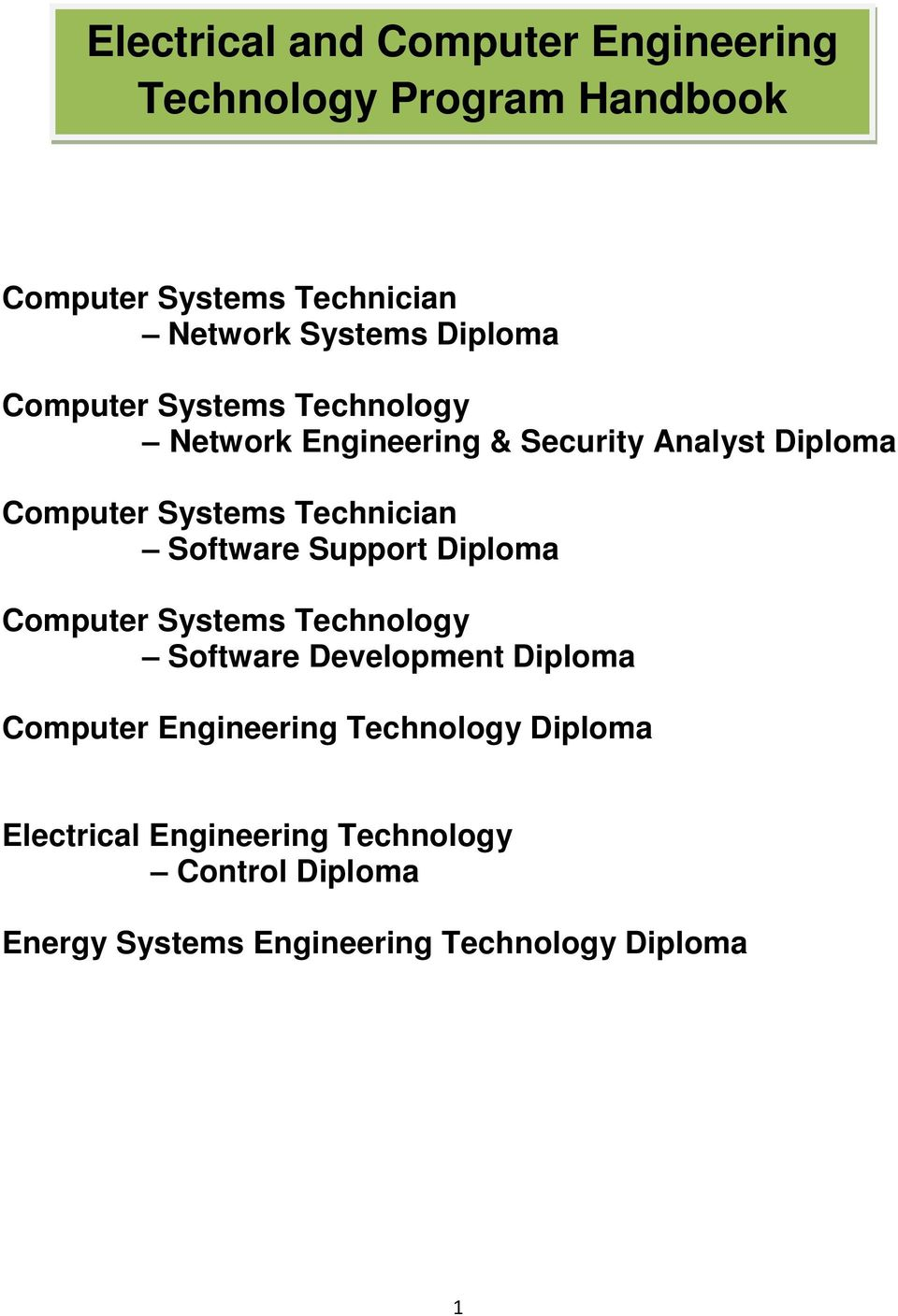 Technician Software Support Diploma Computer Systems Technology Software Development Diploma Computer