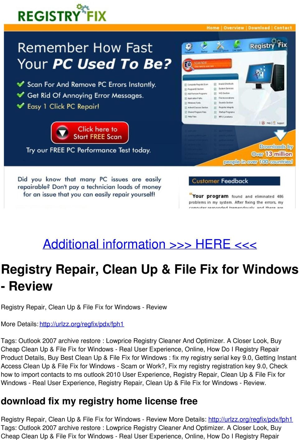 org/regfix/pdx/fph1 Product Details, Buy Best Clean Up & File Fix for Windows : fix my registry serial key 9.