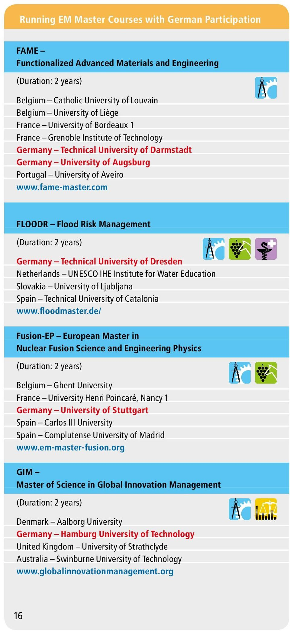 com FLOODR Flood Risk Management Germany Technical University of Dresden Netherlands UNESCO IHE Institute for Water Education Slovakia University of Ljubljana Spain Technical University of Catalonia