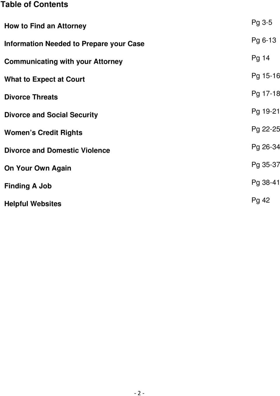 Security Women s Credit Rights Divorce and Domestic Violence On Your Own Again Finding A Job