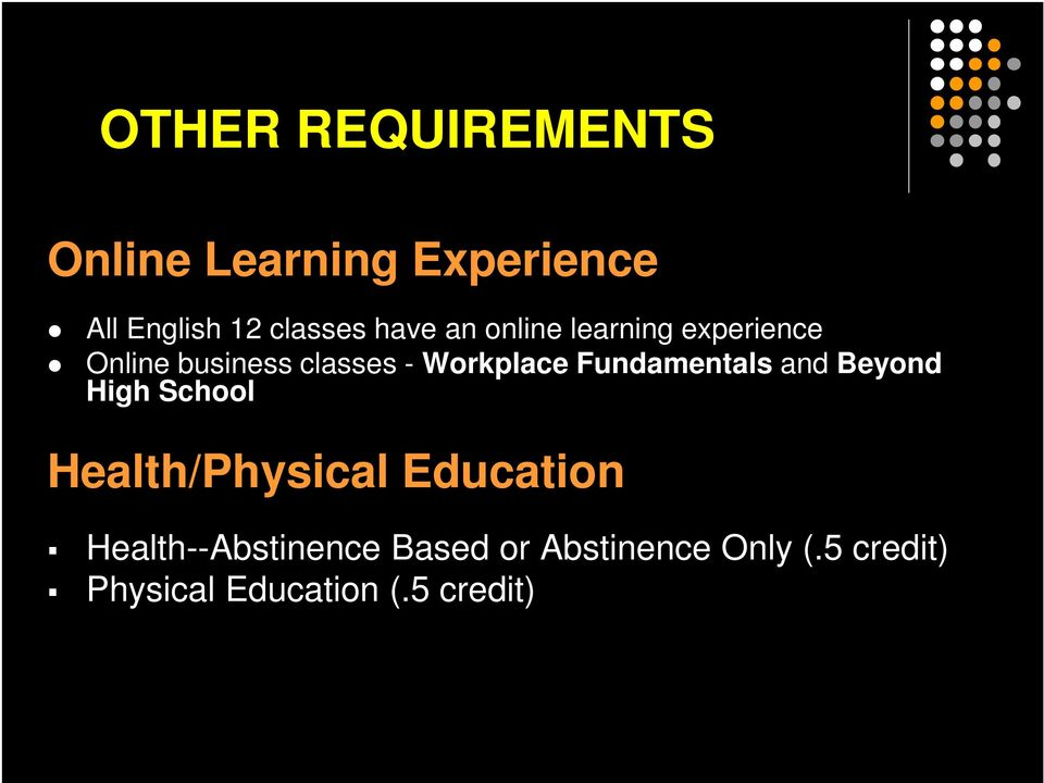 Fundamentals and Beyond High School Health/Physical Education