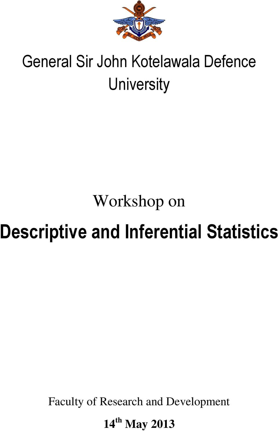 and Inferential Statistics Faculty