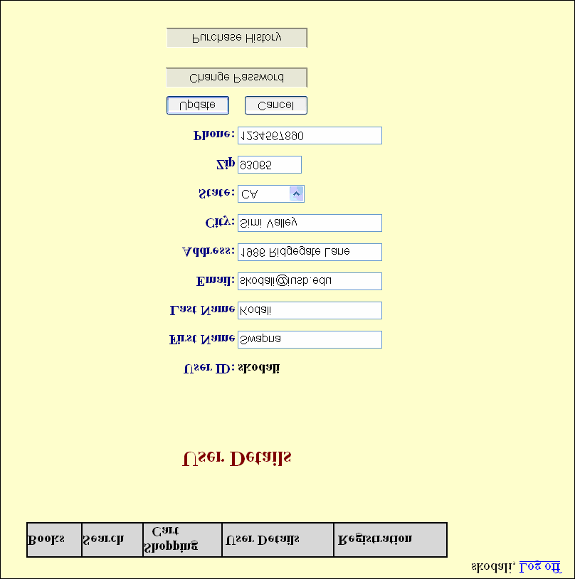 8.3. User Details On clicking User Details, the detailed profile information of the user who is currently logged in are displayed as shown in Figure 28.