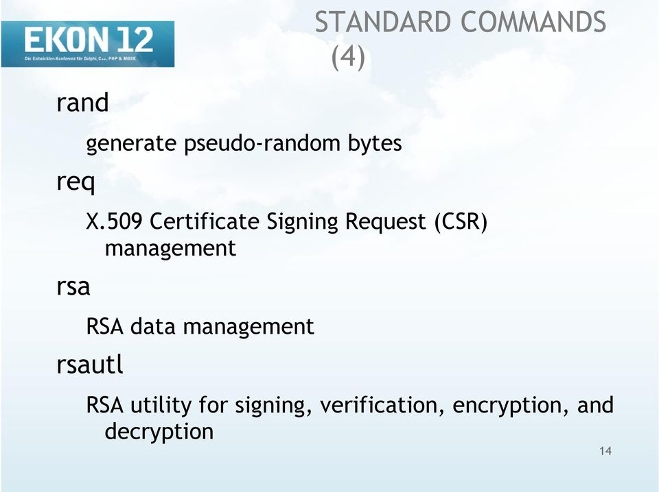 509 Certificate Signing Request (CSR) management RSA