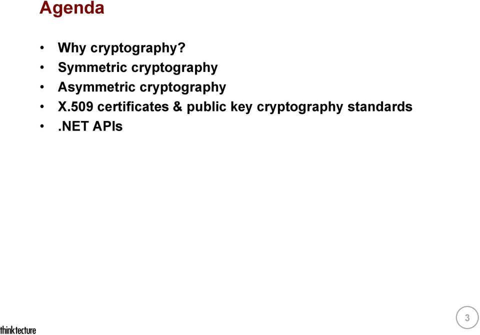 cryptography X.