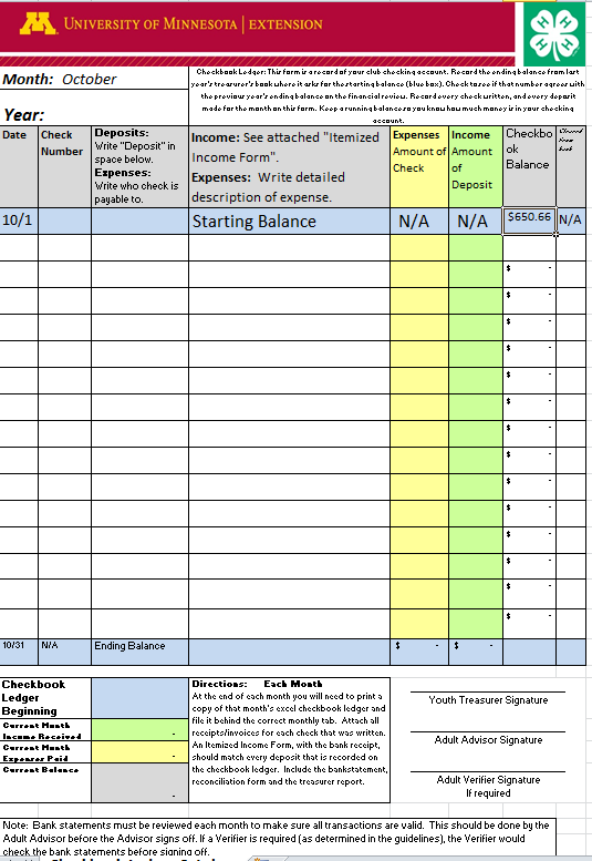 Activity #6 Recording Expenses in the Excel Checkbook Ledger Use Worksheet #1 for this activity.