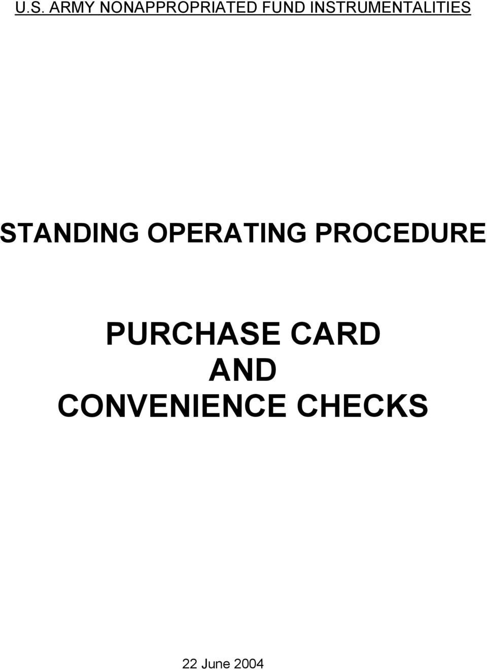 OPERATING PROCEDURE PURCHASE