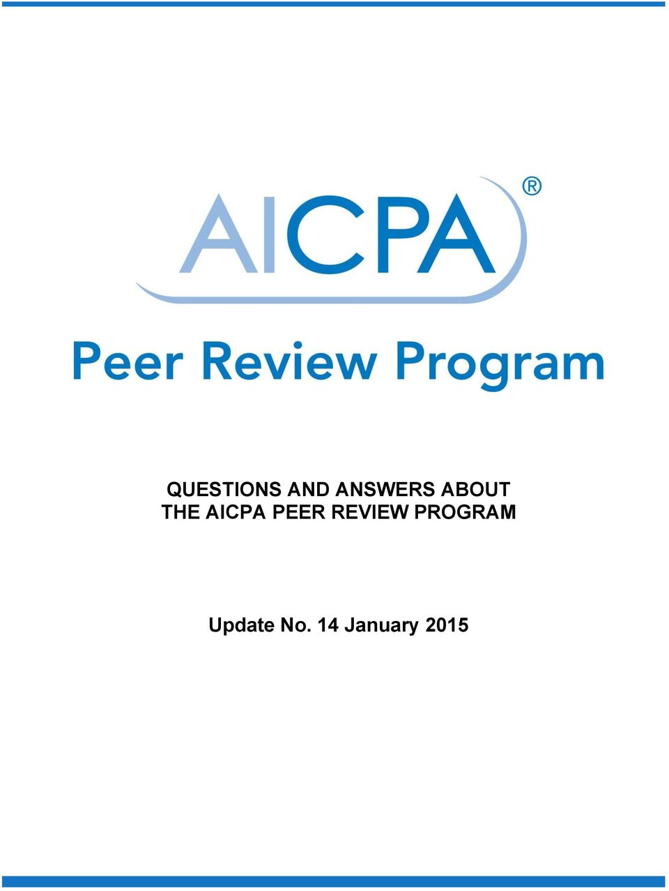 AICPA PEER REVIEW