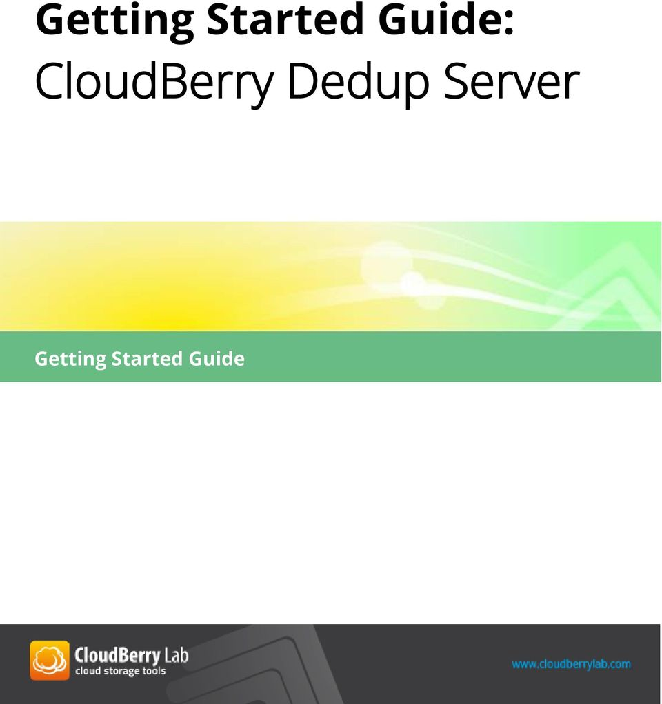 CloudBerry Dedup
