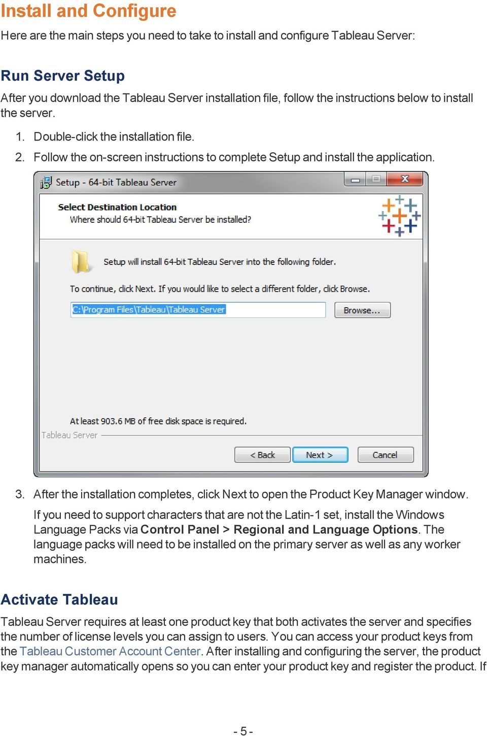 After the installation completes, click Next to open the Product Key Manager window.