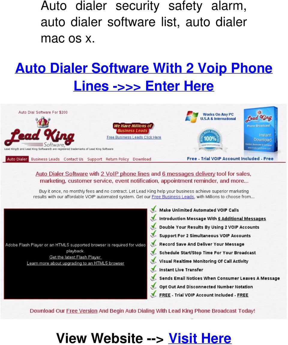 Auto Dialer Software With 2 Voip Phone