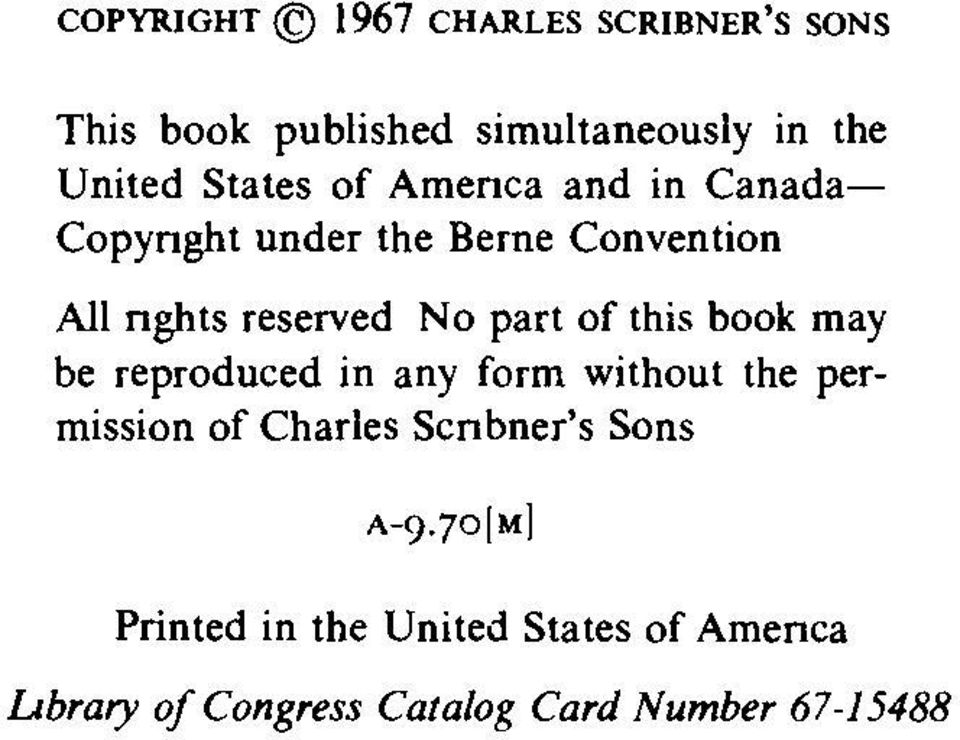 part of this book may be reproduced in any form without the permission of Charles