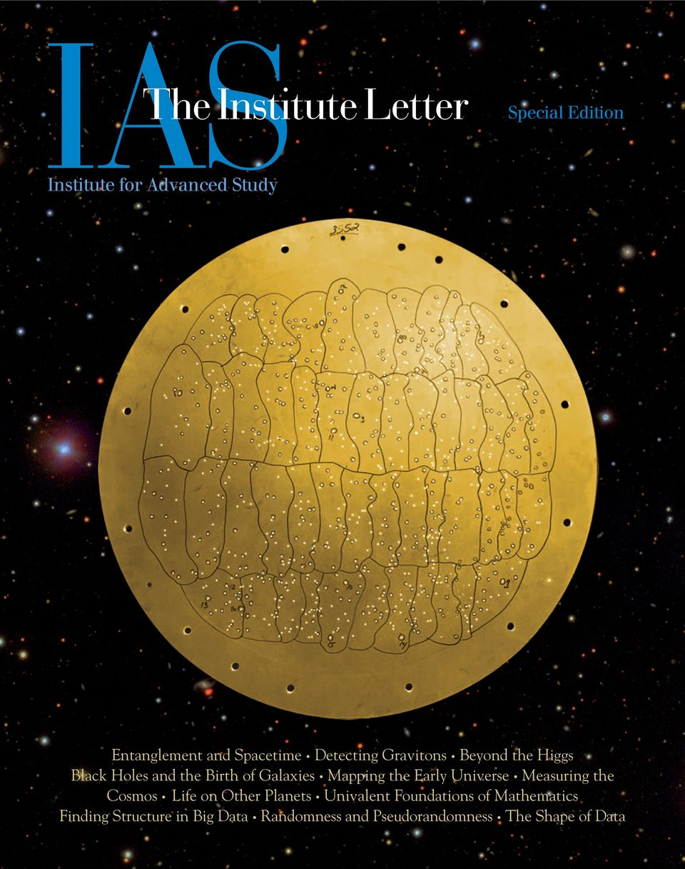 Mapping the Early Universe Measuring the Cosmos Life on Other Planets Univalent