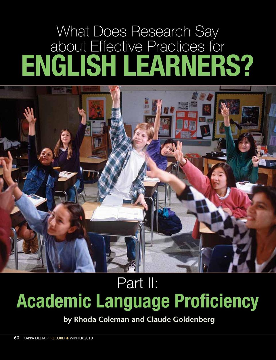 Part II: Academic Language Proficiency by Rhoda