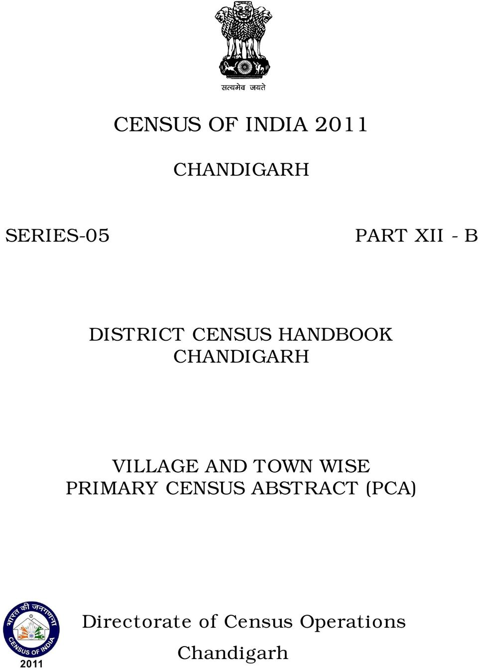 VILLAGE AND TOWN WISE PRIMARY CENSUS ABSTRACT