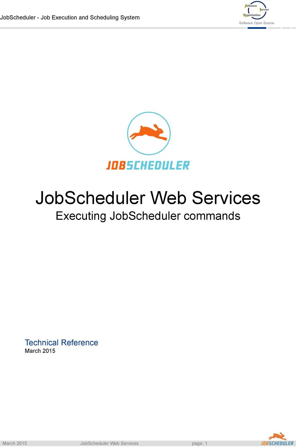 JobScheduler commands Technical Reference