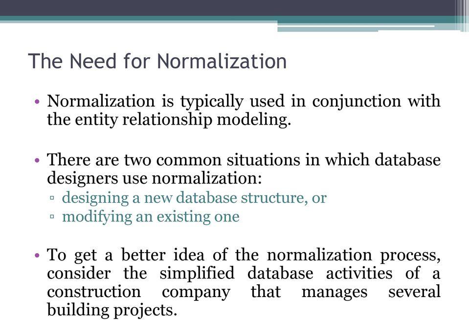 thesis on database normalization