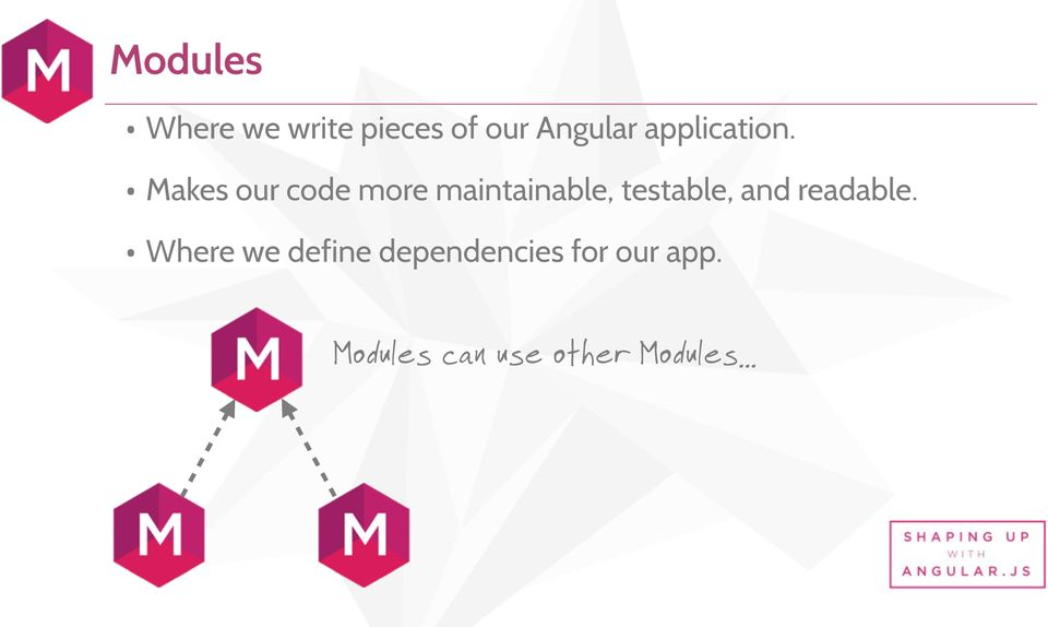 Makes our code more maintainable, testable, and