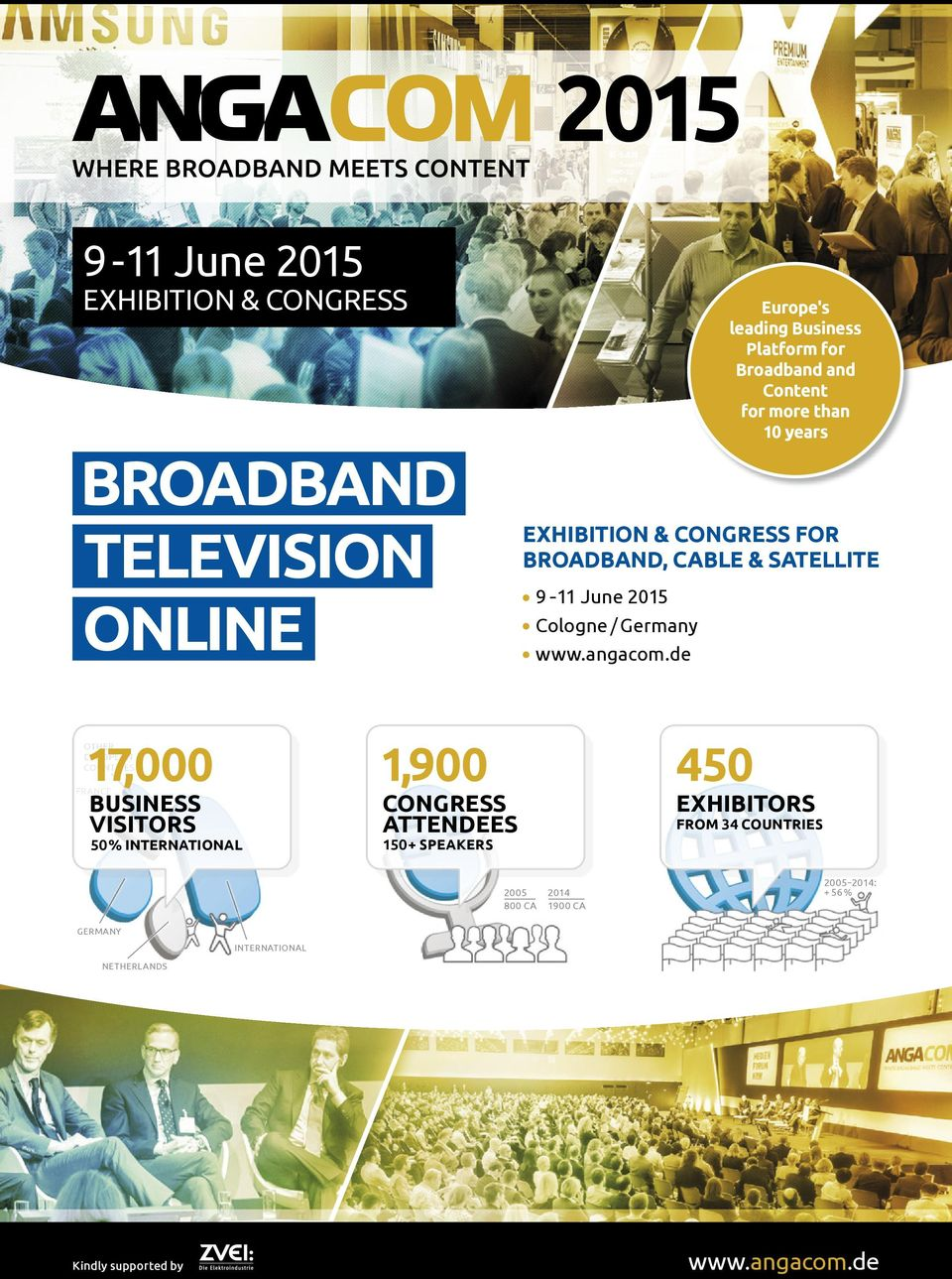 de Europe's leading Business Platform for Broadband and Content for more than 10 years 17,000 1,900 450 OTHER EUROPEAN COUNTRIES