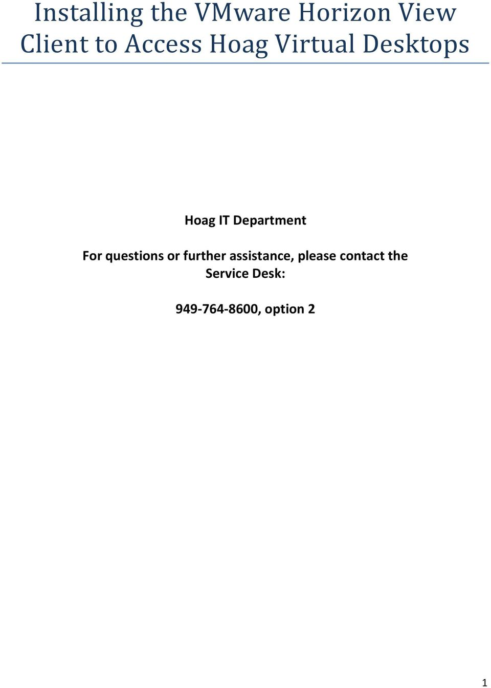 Department For questions or further