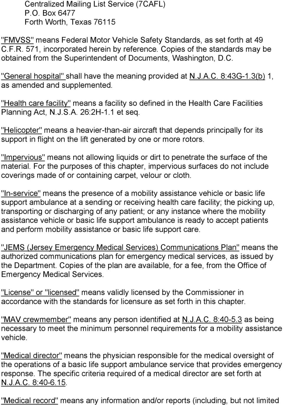"3(b) 1, as amended and supplemented. ""Health care facility"" means a facility so defined in the Health Care Facilities Planning Act, N.J.S.A. 26:2H-1.1 et seq."