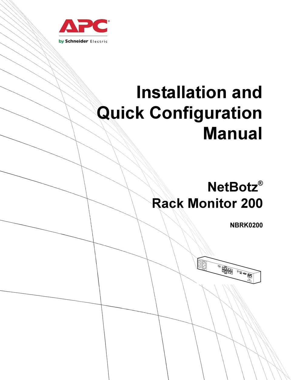 Manual NetBotz Rack