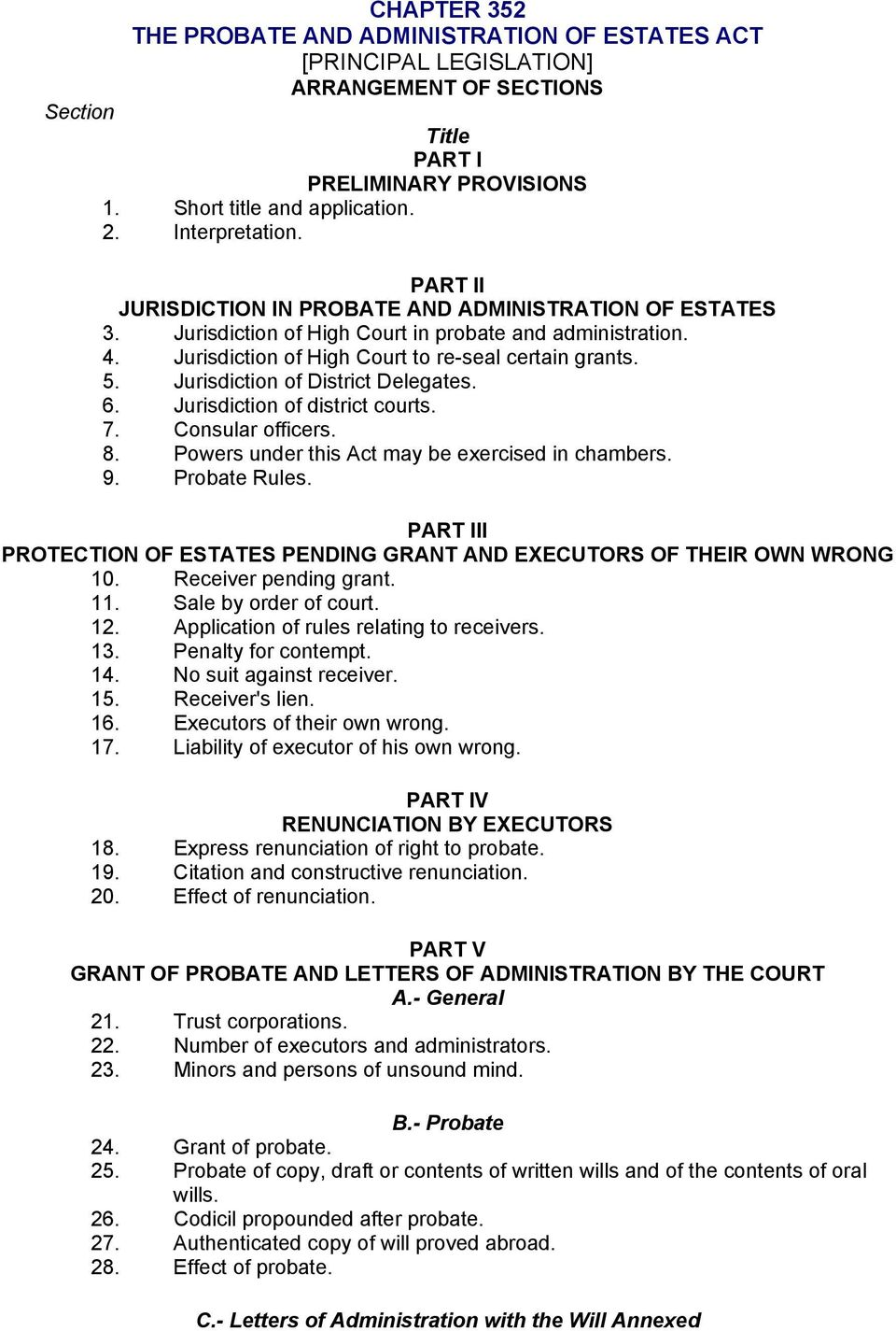 Chapter 352 the probate and administration of estates act jurisdiction of district delegates 6 jurisdiction of district courts 7 consular officers spiritdancerdesigns Choice Image