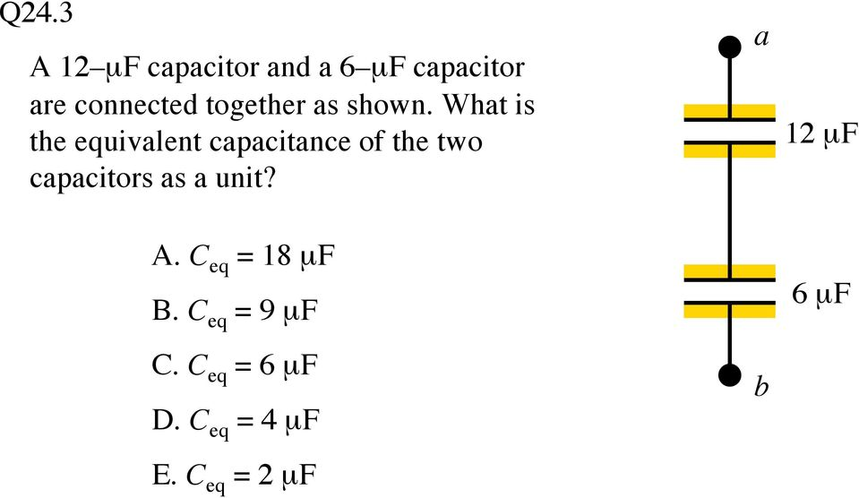 What is the equivalent capacitance of the two capacitors