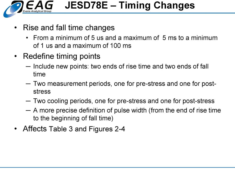 measurement periods, one for pre-stress and one for poststress Two cooling periods, one for pre-stress and one for