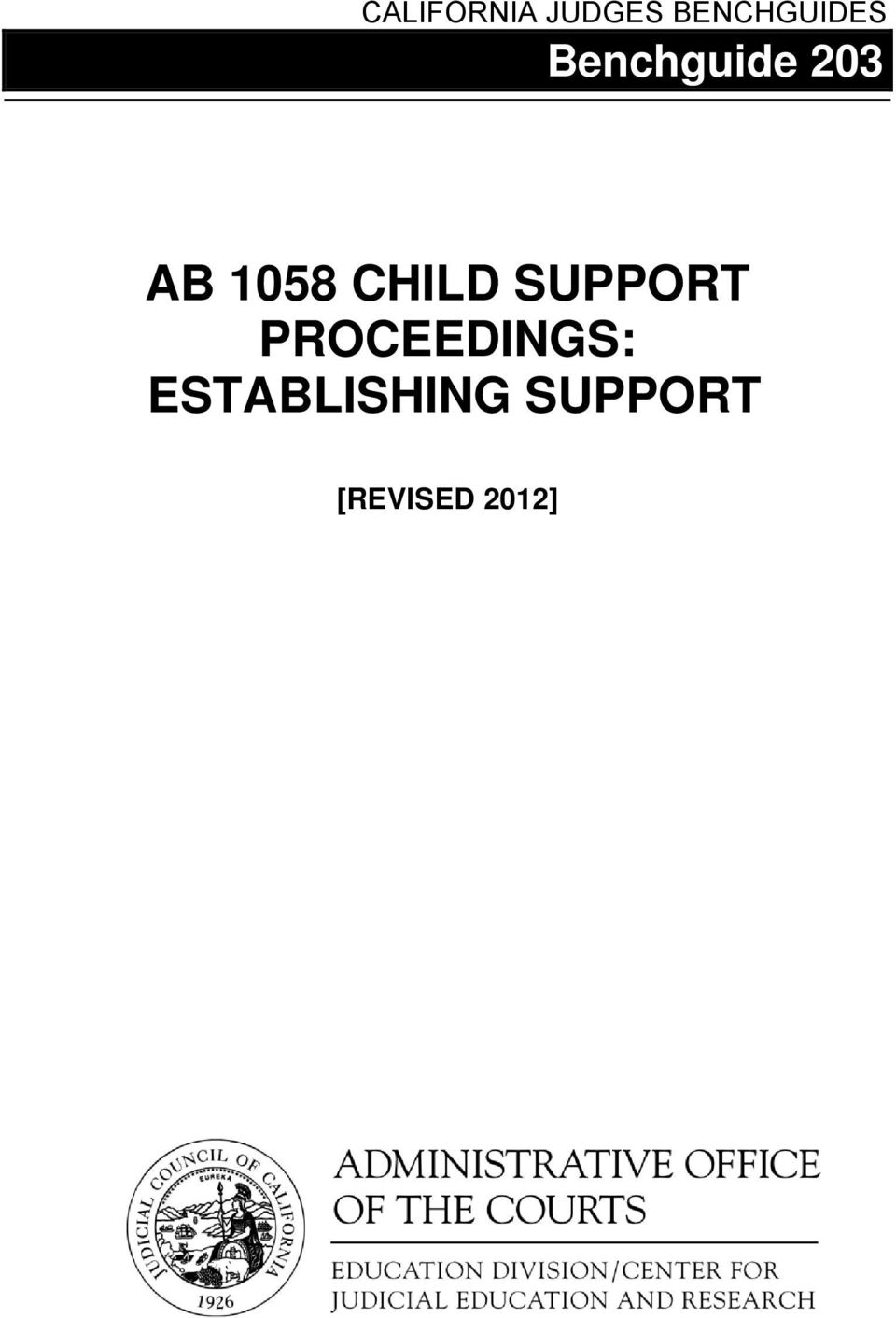 AB 1058 CHILD SUPPORT