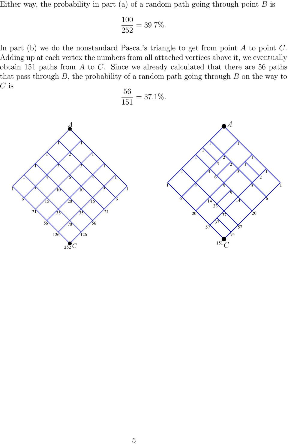 dding up at each vertex the numbers from all attached vertices above it, we eventually obtain paths from to.