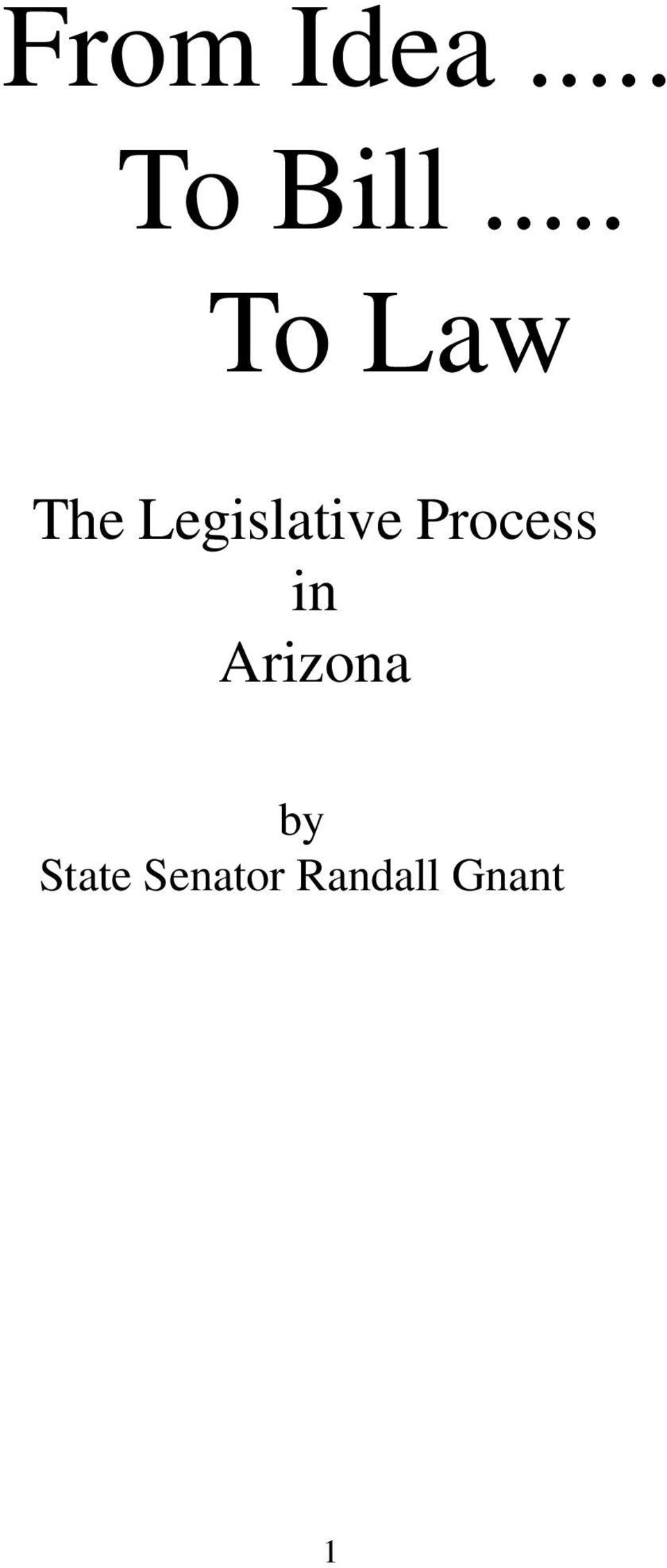 Legislative Process in