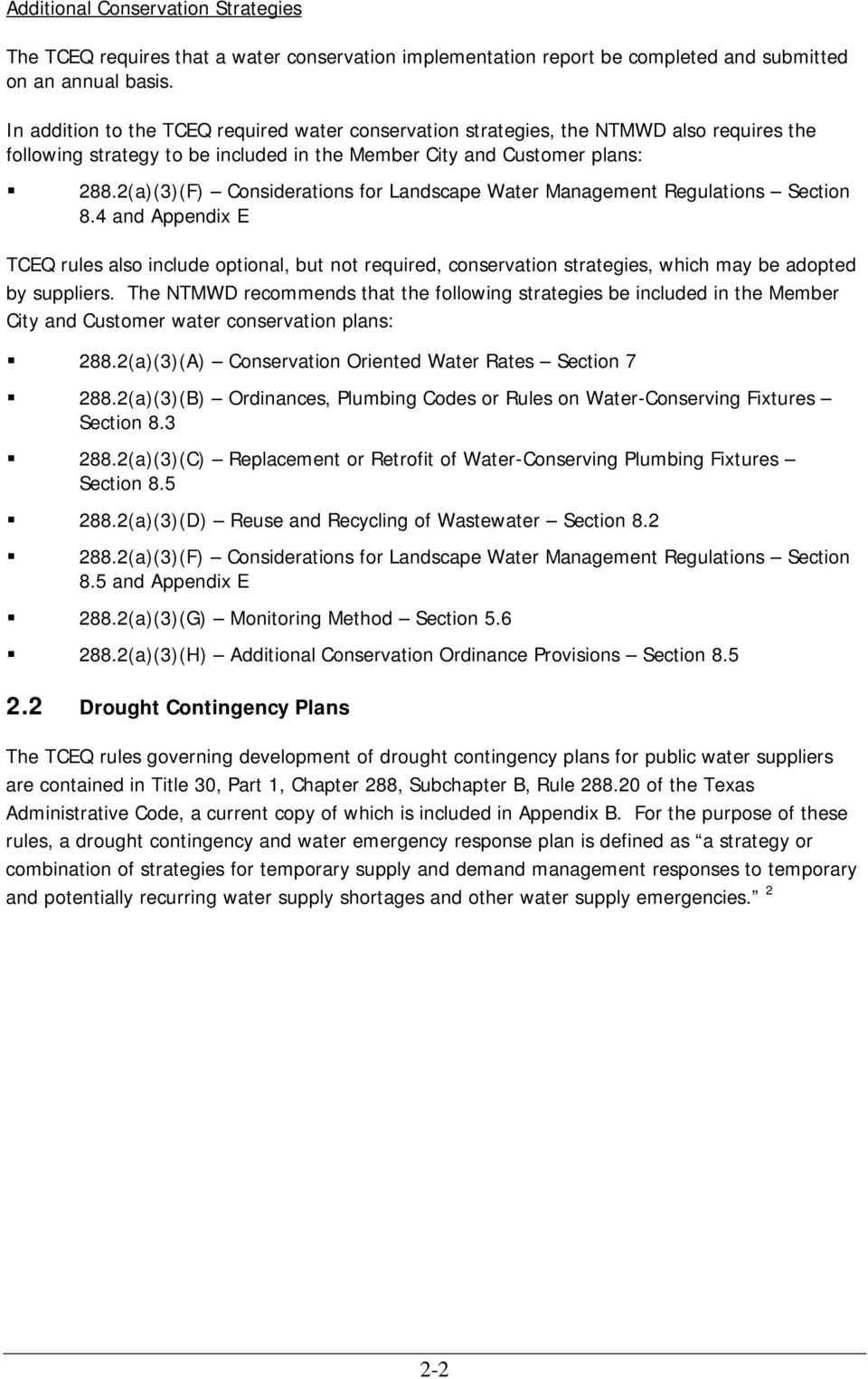 2(a)(3)(F) Considerations for Landscape Water Management Regulations Section 8.