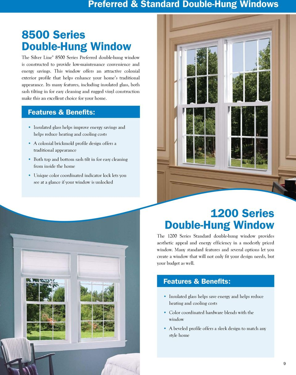 Its many features, including insulated glass, both sash tilting in for easy cleaning and rugged vinyl construction make this an excellent choice for your home.