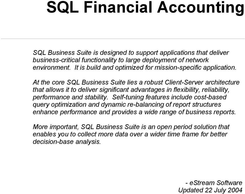 a course on sql for business This course will teach you how to use large amounts of data to make business decisions using excel and sql, you will learn how to collect, clean and analyze data from multiple sources including the web, a local file and a relational database.