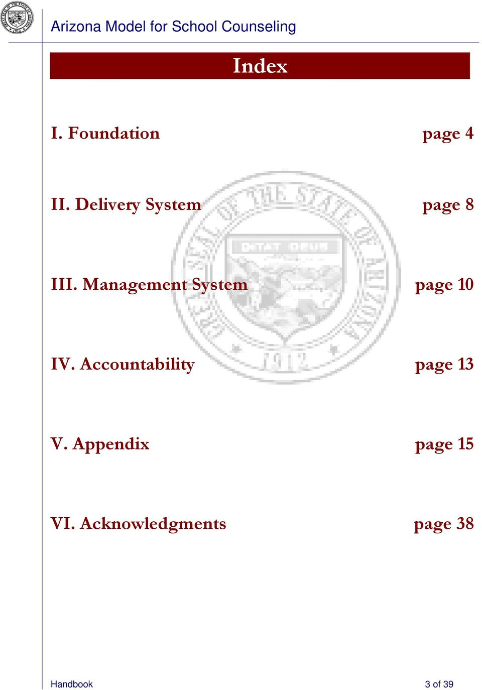 Management System page 10 IV.