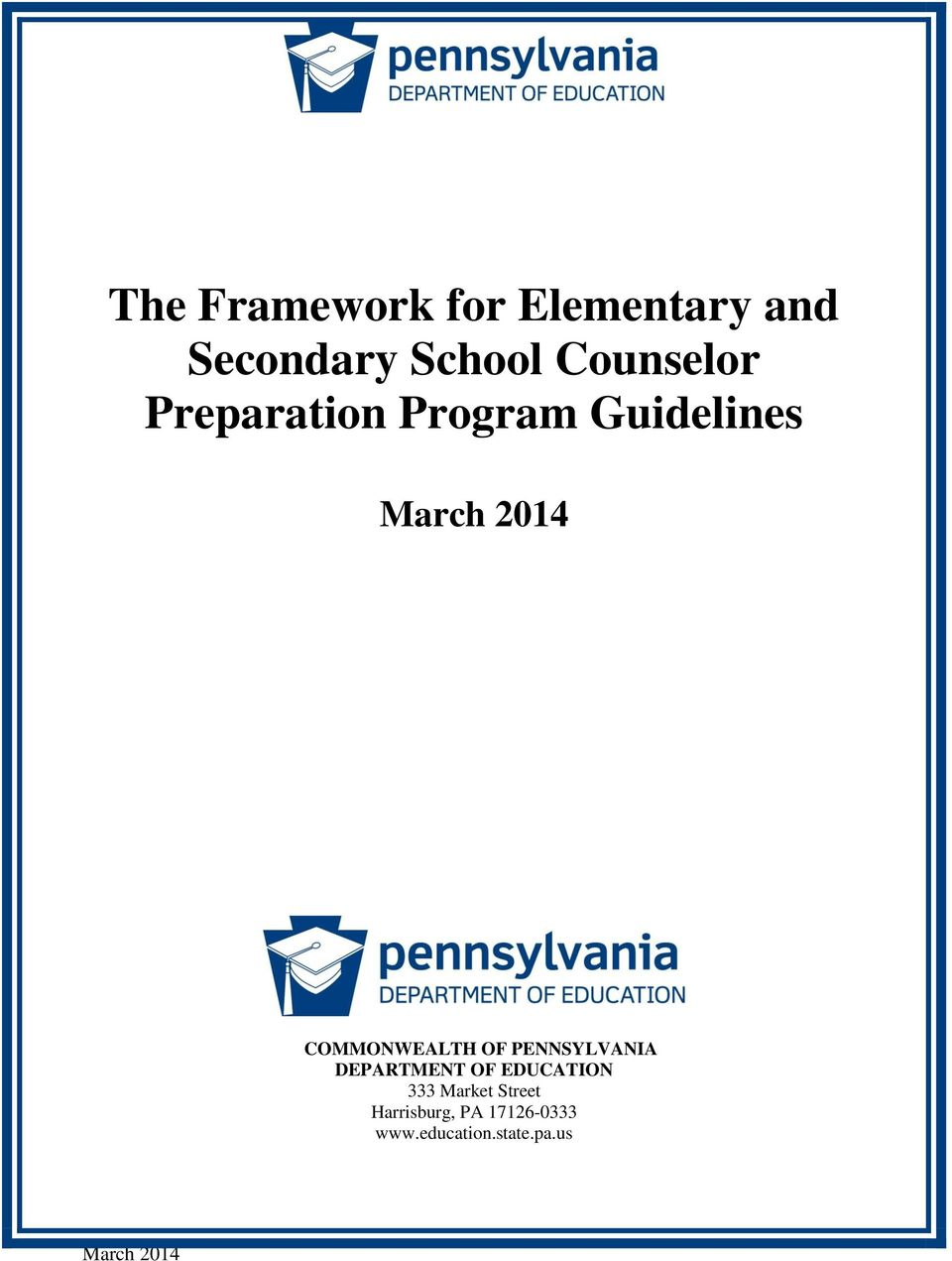 COMMONWEALTH OF PENNSYLVANIA DEPARTMENT OF EDUCATION 333