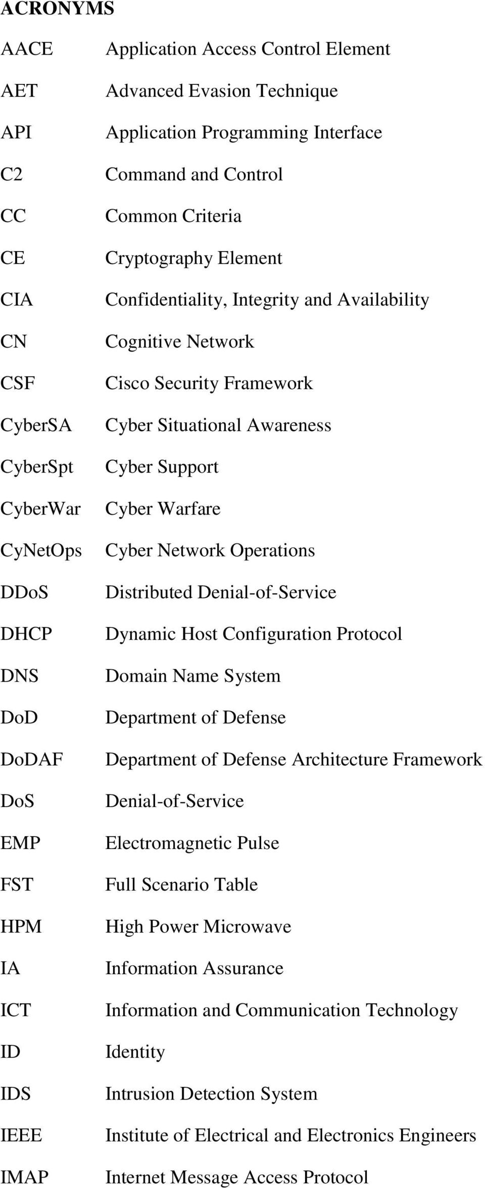 Situational Awareness Cyber Support Cyber Warfare Cyber Network Operations Distributed Denial-of-Service Dynamic Host Configuration Protocol Domain Name System Department of Defense Department of